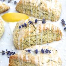 Lemon Lavender Poppy Seed Scones