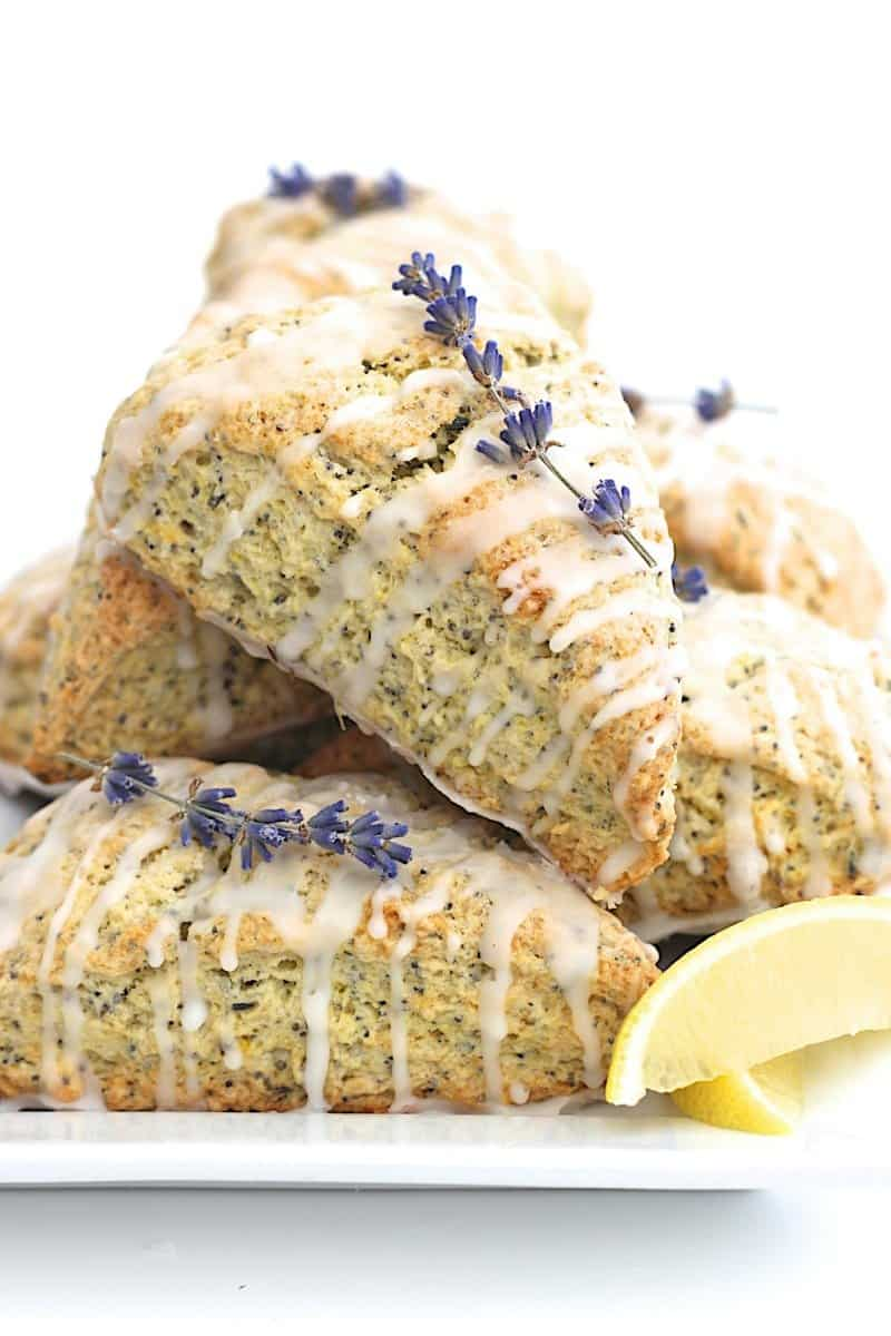 Lemon Lavender Poppy Seed Scones