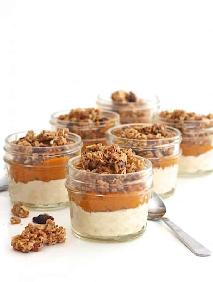 Pumpkin Yogurt and Granola Parfaits