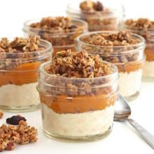 Pumpkin Yogurt and Granola Parfaits