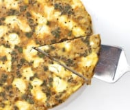 Pumpkin Swirled Goat Cheese Frittata with Sage