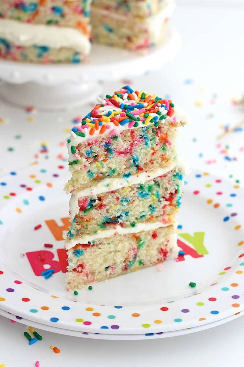 Birthday Cake Flavored Cake Recipe
