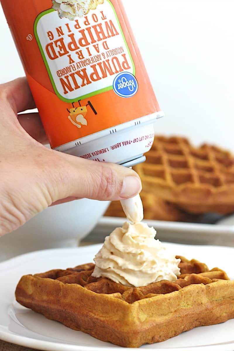 Pumpkin Eggnog Waffles