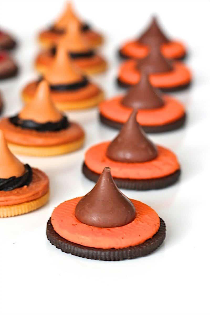 Easy Halloween Witch Hat Cookies