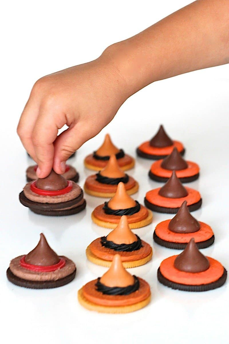 Easy Halloween Witch Hat Cookies