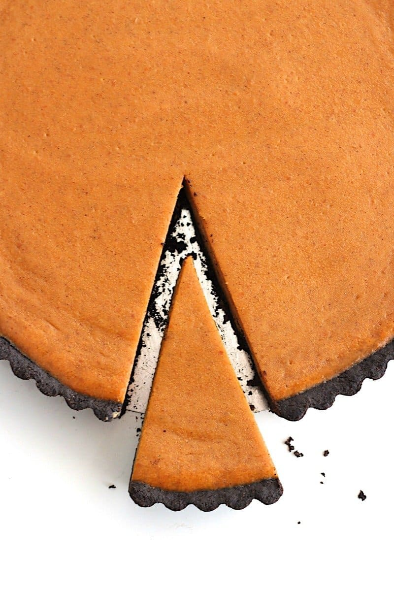 Dark Chocolate Pumpkin Tart