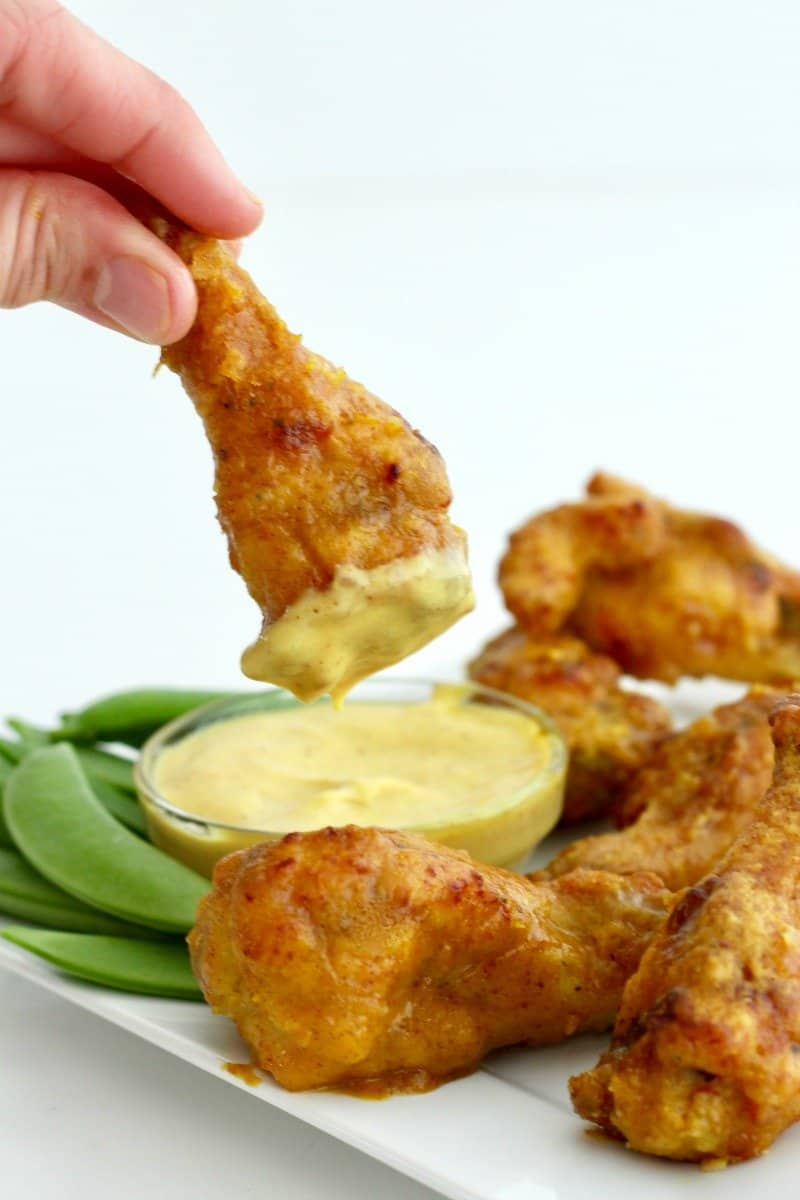 Baked Honey Mustard Chicken Wings | The BakerMama