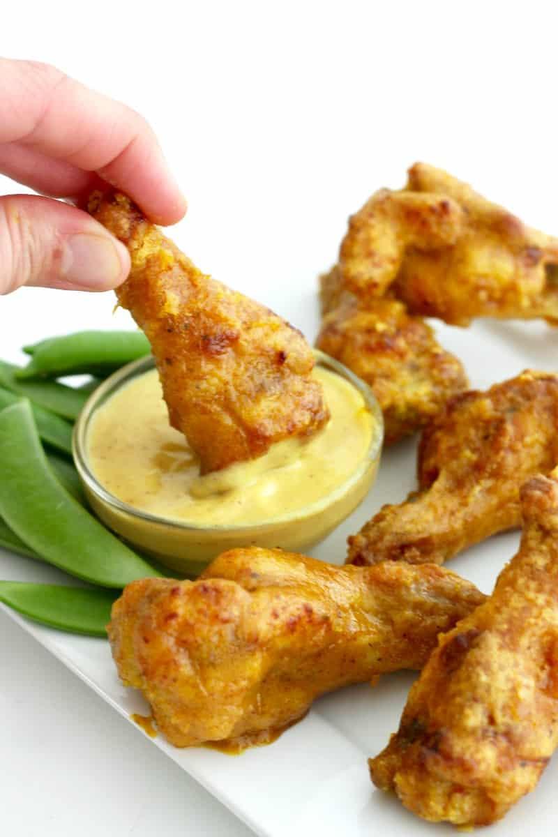 Baked Honey Mustard Chicken Wings   The BakerMama