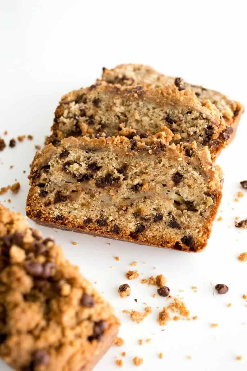 Peanut Butter Chocolate Chip Banana Bread | The BakerMama