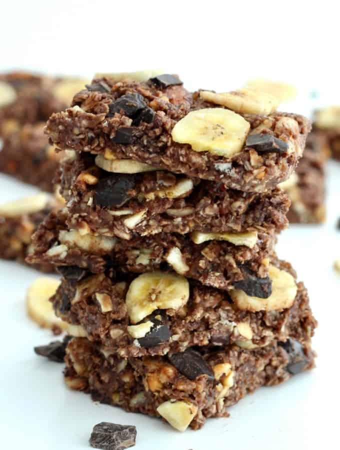 No-Bake Chunky Monkey Granola Bars
