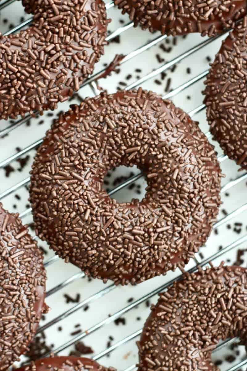 Triple Chocolate Donuts | The BakerMama