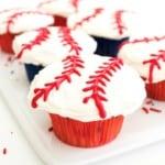 Funfetti Baseball Cupcakes