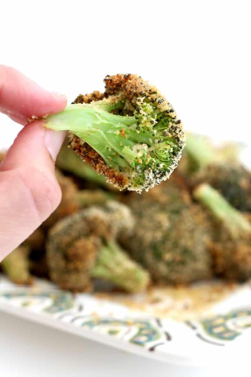 Crispy Oven-Fried Broccoli