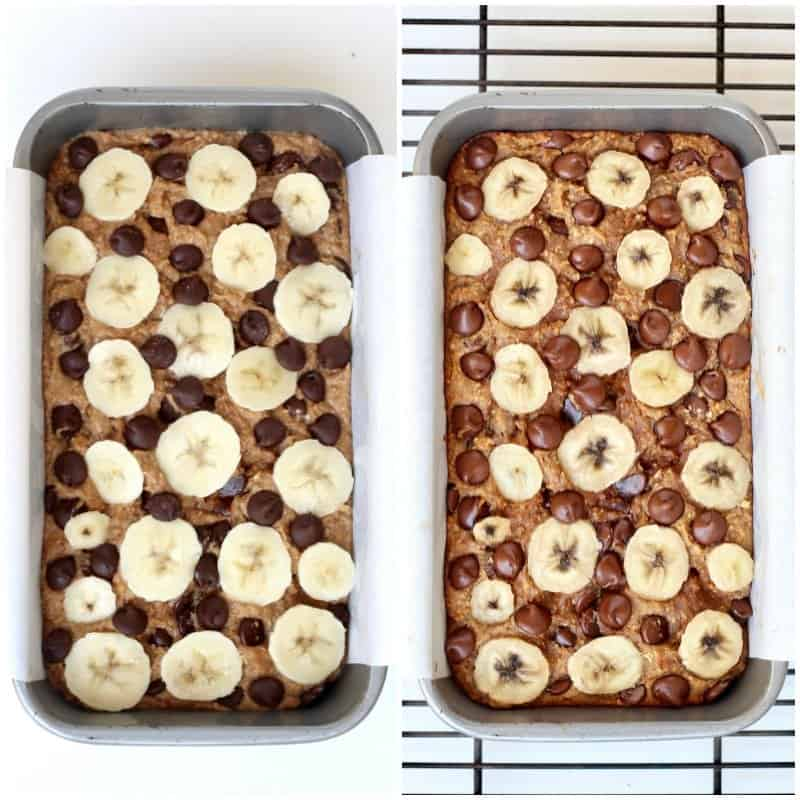 4-Ingredient Flourless Chocolate Chip Banana Bread