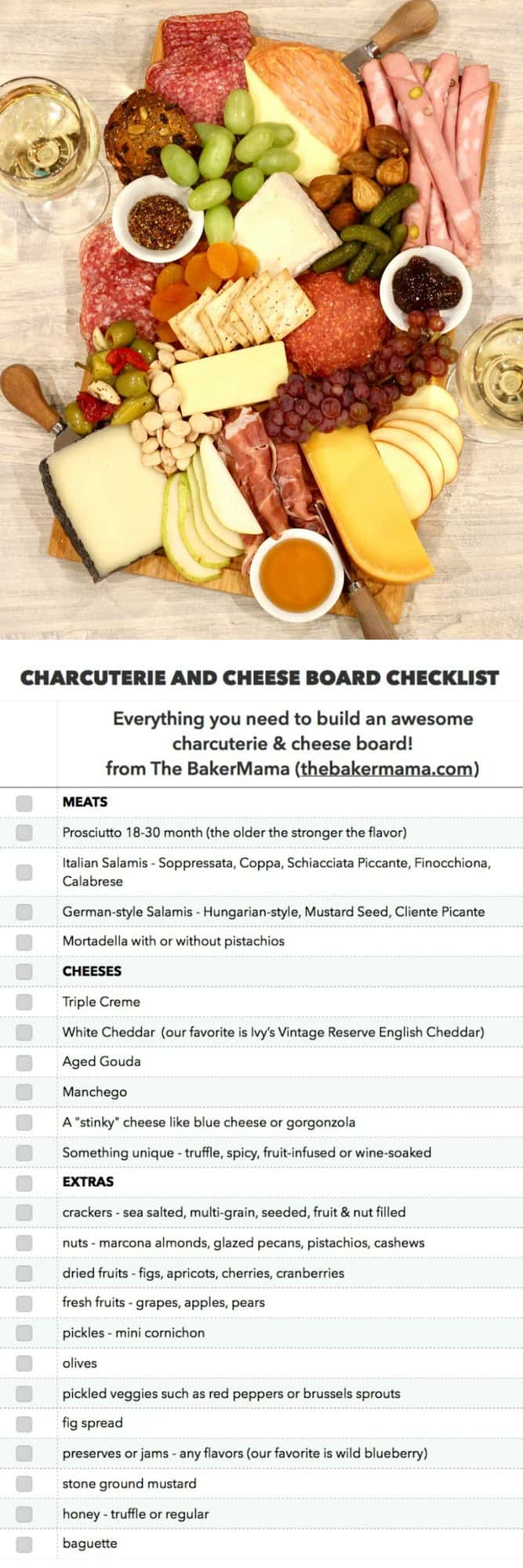 The BEST Charcuterie and Cheese Board Checklist