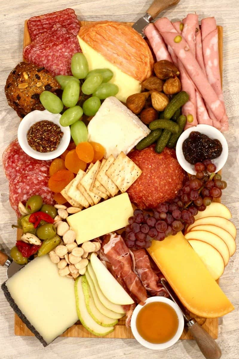 Everything you need to know to easily build an awesome charcuterie and cheese board!  sc 1 st  The BakerMama & How We Charcuterie and Cheese Board | The BakerMama