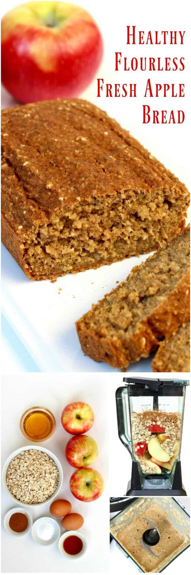 Healthy Flourless Fresh Apple Bread