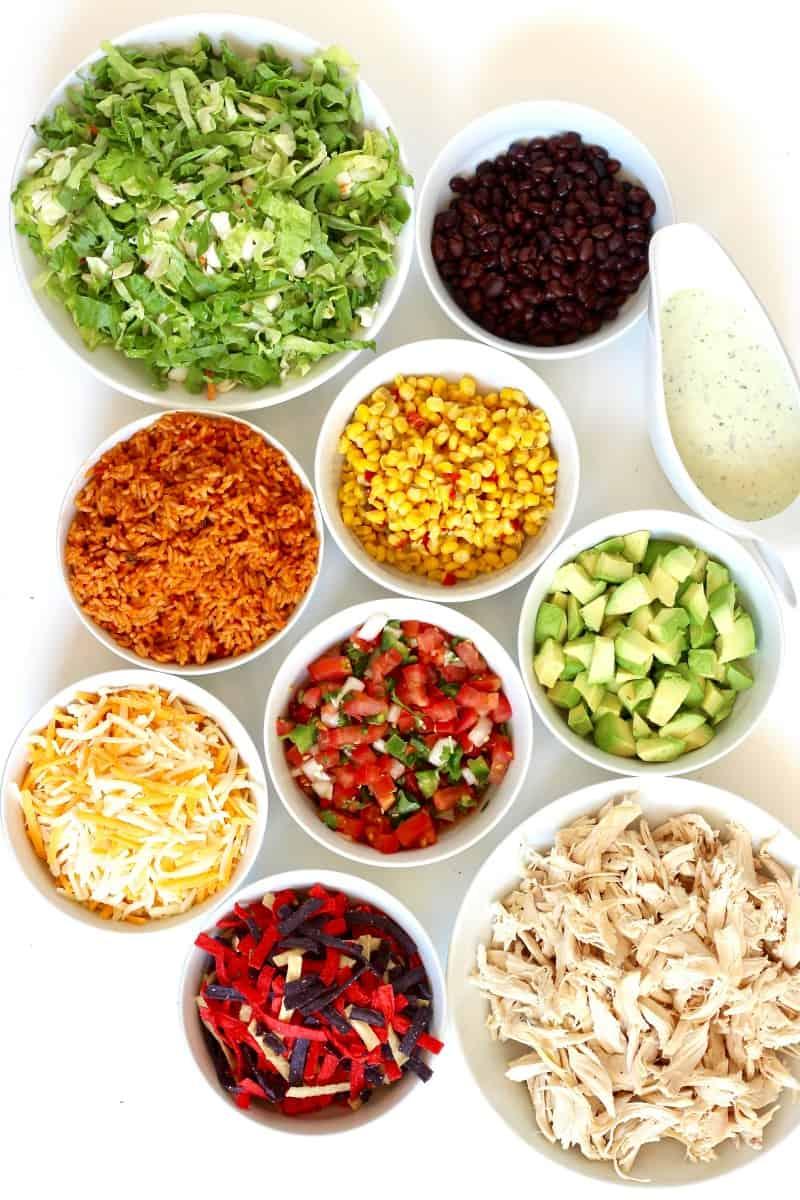 Layered Chicken Taco Salad