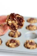5-Ingredient Flourless Banana Chocolate Chunk Oatmeal Mini Muffins