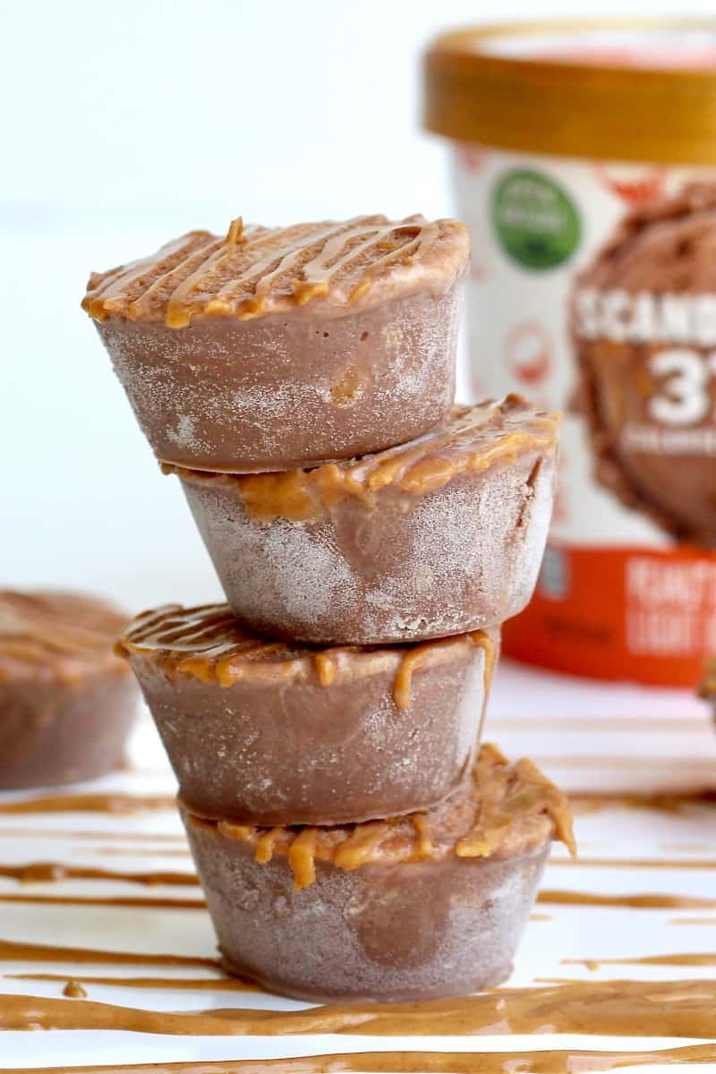 Peanut Butter Cup Ice Cream Bites