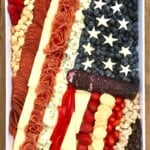 American Flag Cheese Tray