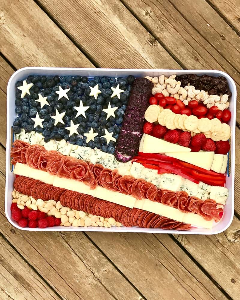 American Flag Cheese Tray by The BakerMama