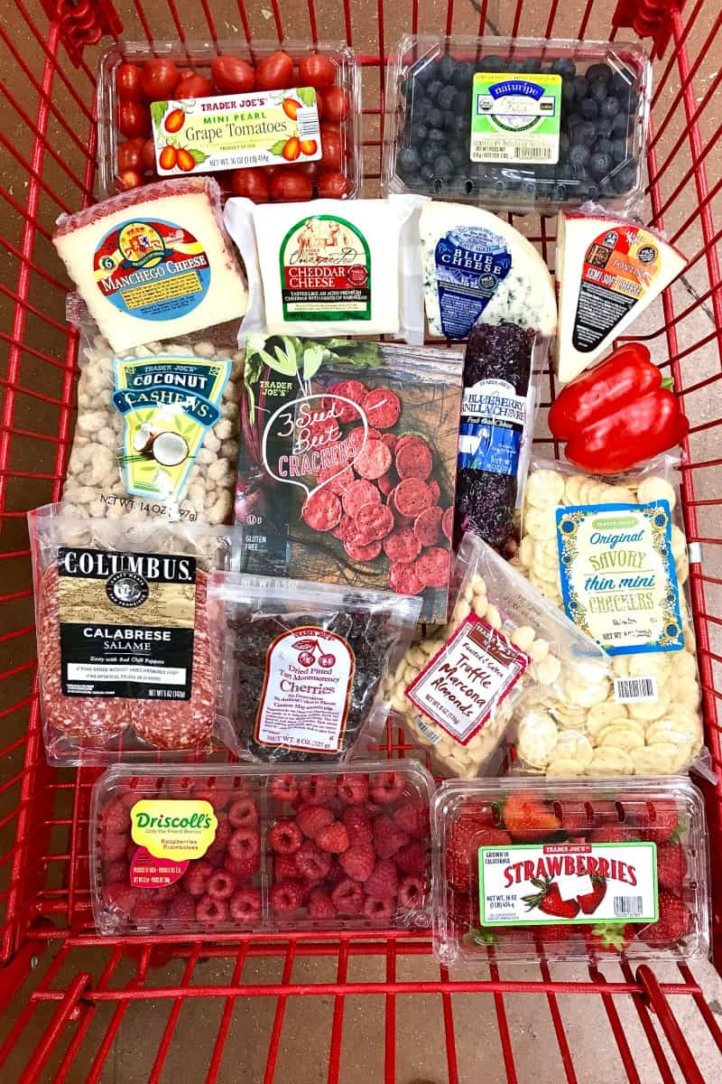American Flag Cheese Tray by The BakerMama - Trader Joe's Shopping Cart