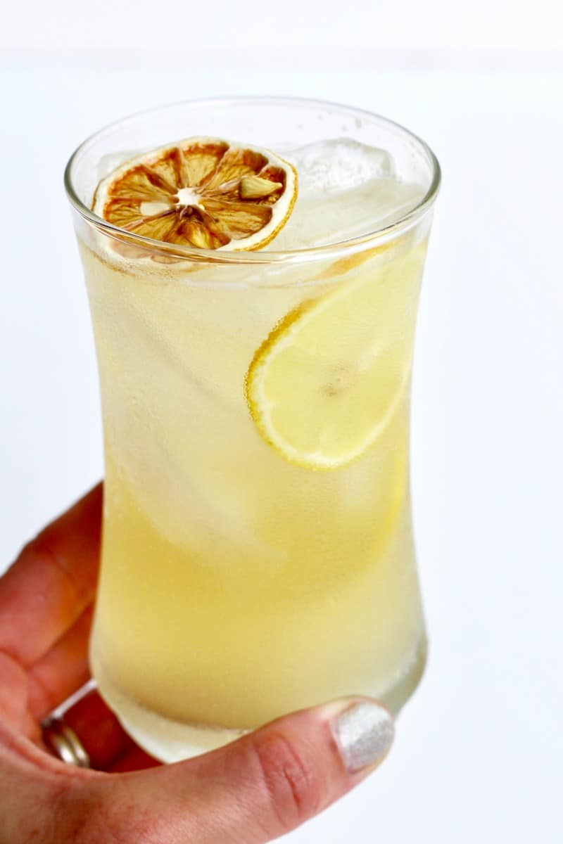 Zesty Lemonade - classic vodka lemonade is kicked up with the addition of rich limoncello and spicy chile liqueur.