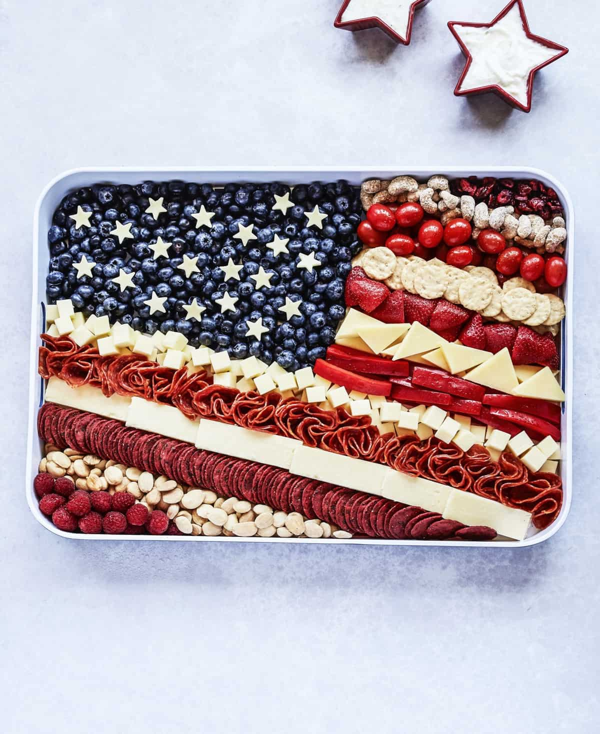 American Flag Snack Tray by The BakerMama