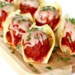 Meatball Stuffed Pasta Shells