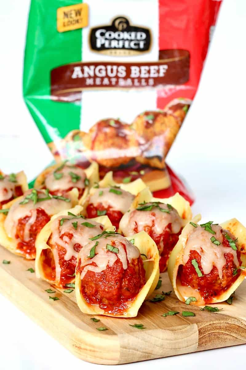 Meatball Stuffed Pasta Shells