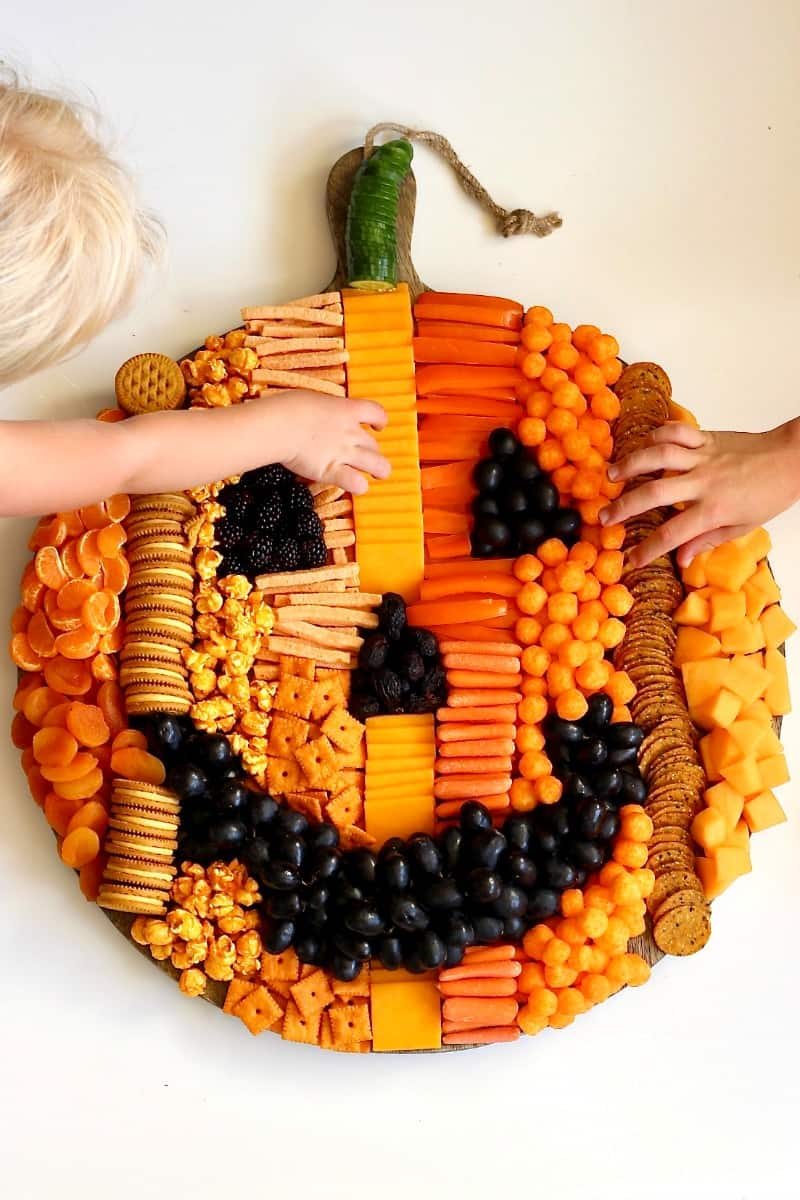 Pumpkin Snack Board by The BakerMama