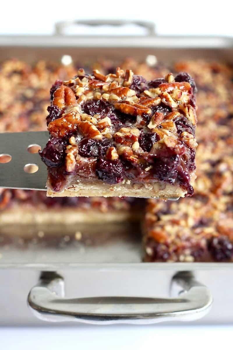Blueberry Pecan Pie Bars