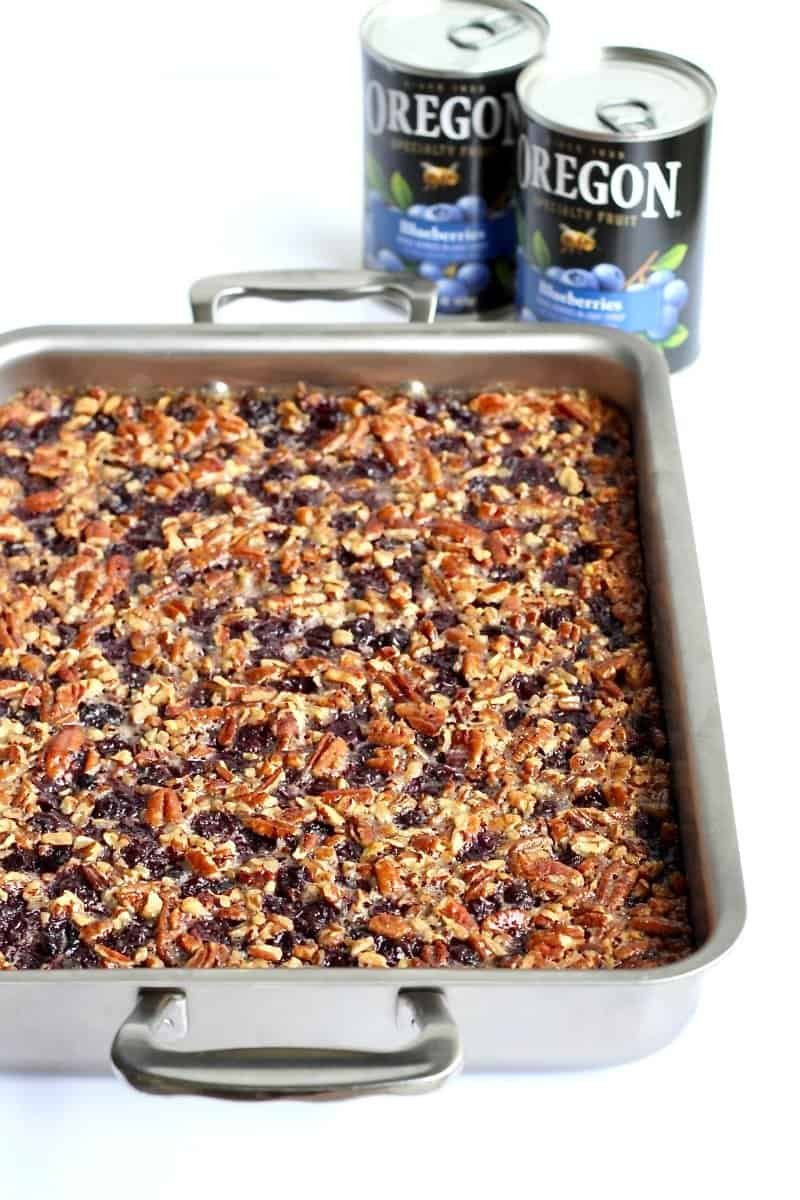 Blueberry Pecan Pie Bars