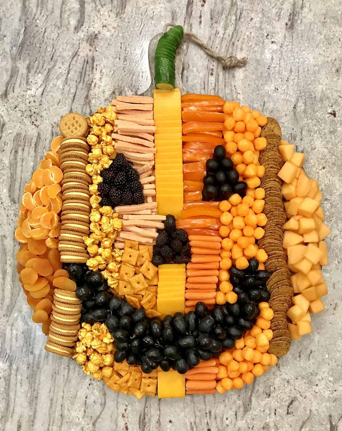 Pumpkin Snack Board by The BakerMama