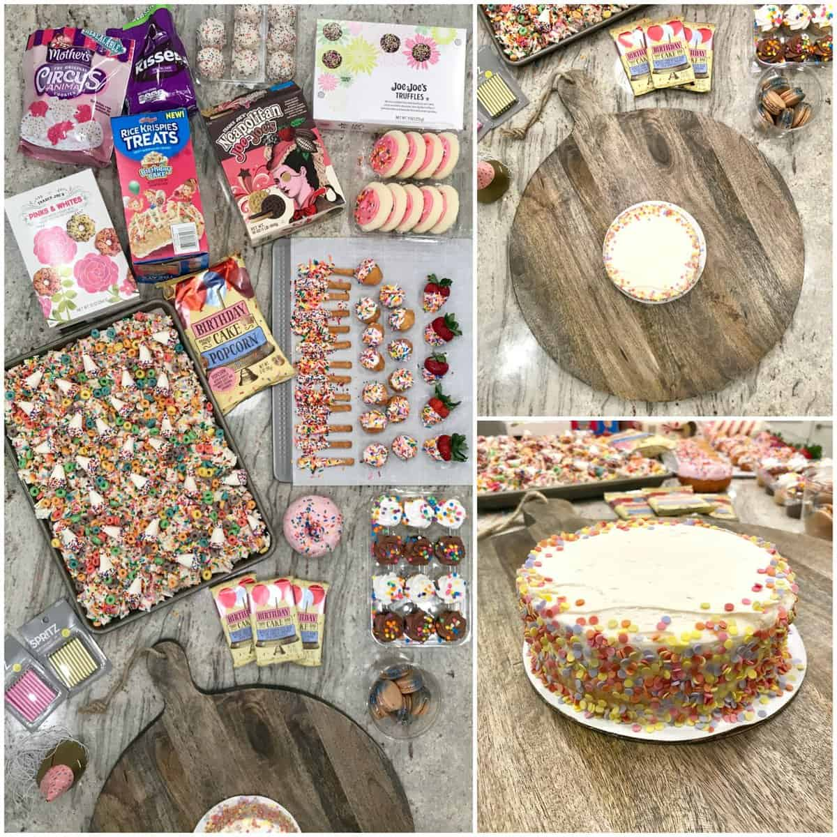 Fantastic Birthday Dessert Board The Bakermama Funny Birthday Cards Online Elaedamsfinfo