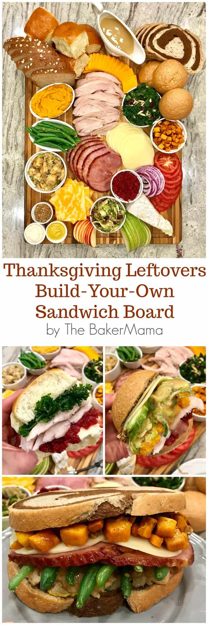 Thanksgiving Leftovers Sandwich Board by The BakerMama