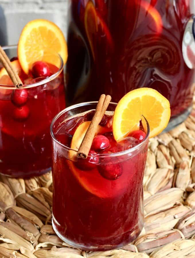 Cranberry Orange Spiked Sweet Tea