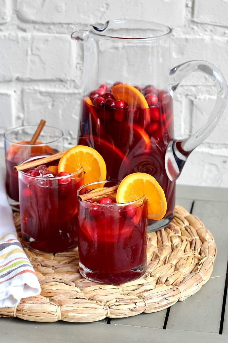 Cranberry Orange Spiked Sweet Tea