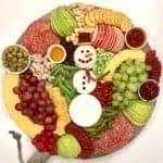 Snowman Snack Board