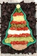 Christmas Tree 7 Layer Dip by The BakerMama
