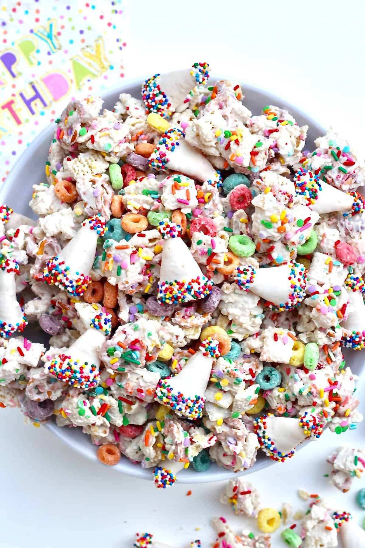 Fantastic Birthday Snack Mix The Bakermama Funny Birthday Cards Online Chimdamsfinfo