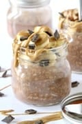 Chocolate Peanut Butter Banana Protein Overnight Oats