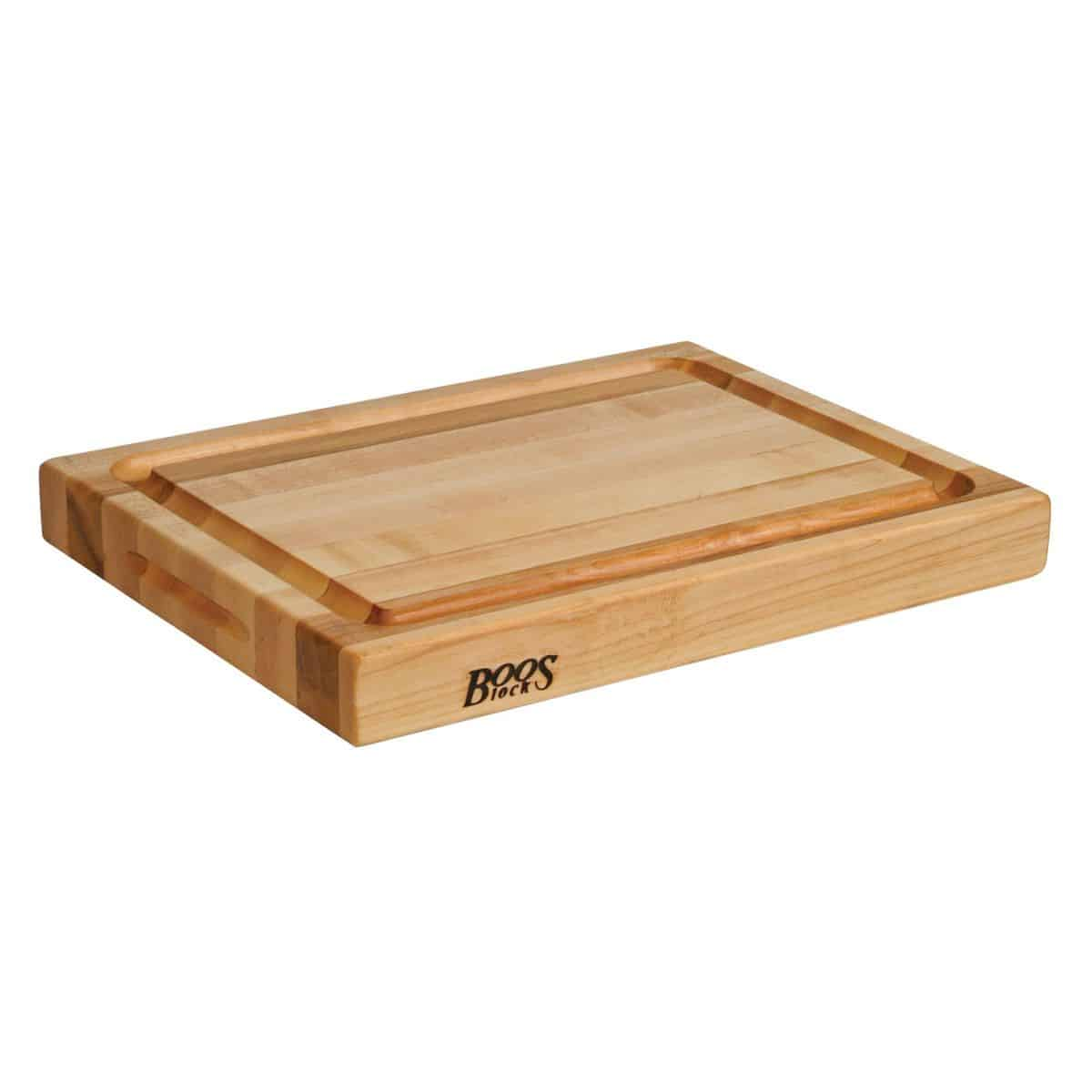 "John Boos & Co. Maple Edge-Grain Cutting Board with Deep Groove, 20"" x 15"" x 2¼"""