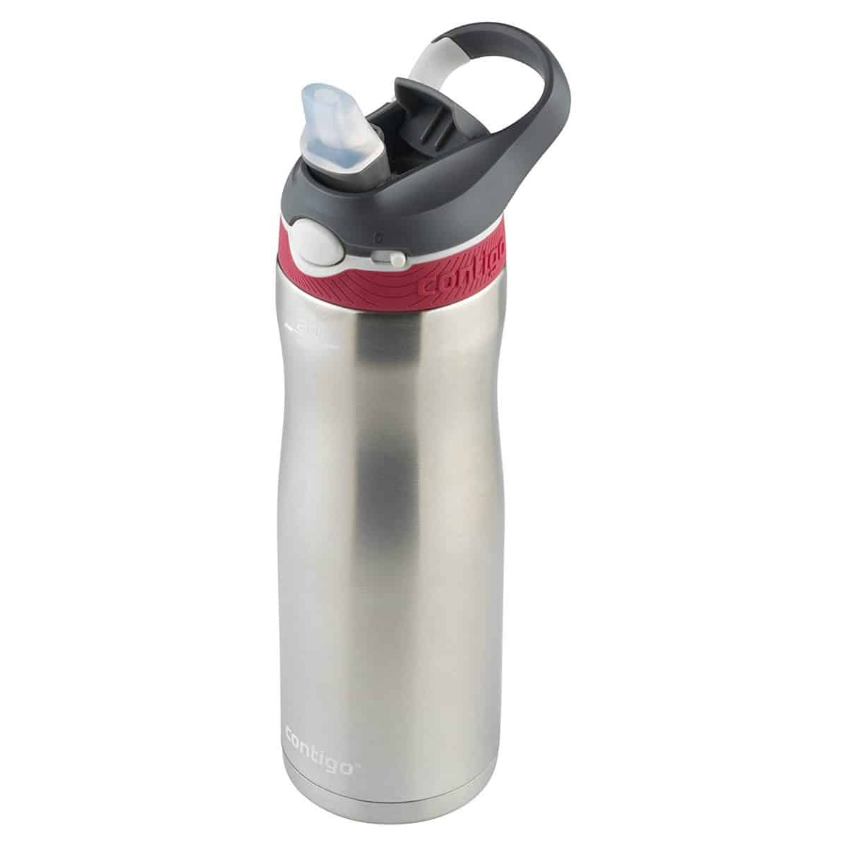 Contigo AUTOSPOUT Straw Ashland Chill Stainless Steel Water Bottle, 20 oz, Sangria