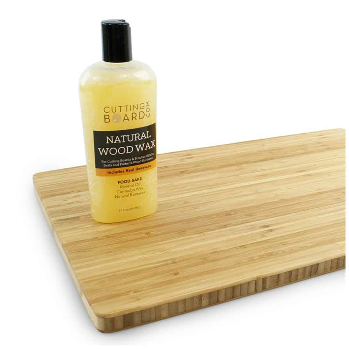 Cutting Board Wax and Conditioner, Protects Wood Countertops and Butcher Blocks - Made in USA with Real Beeswax