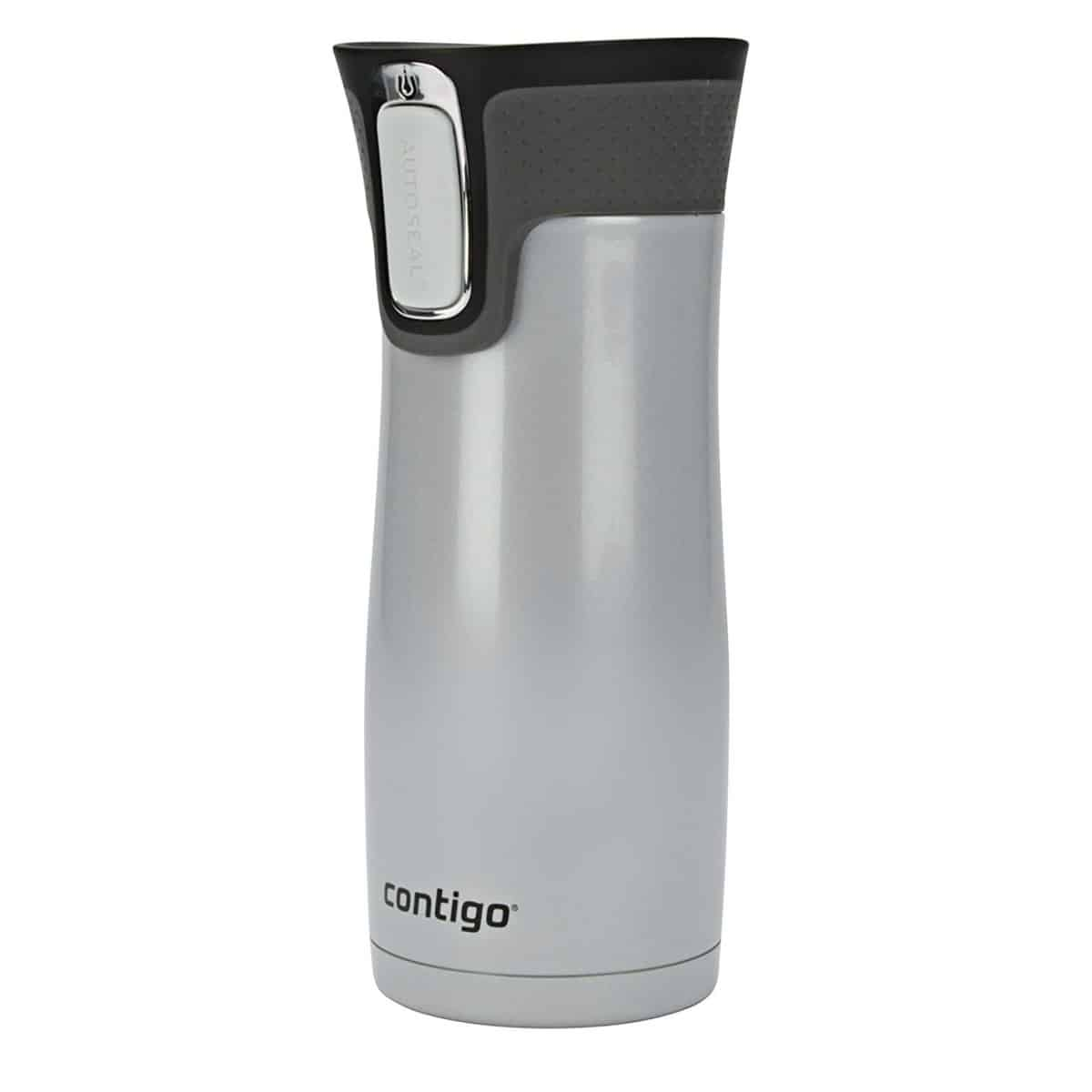 Contigo AUTOSEAL West Loop Vaccuum-Insulated Stainless Steel Travel Mug, 16 oz, Polar White