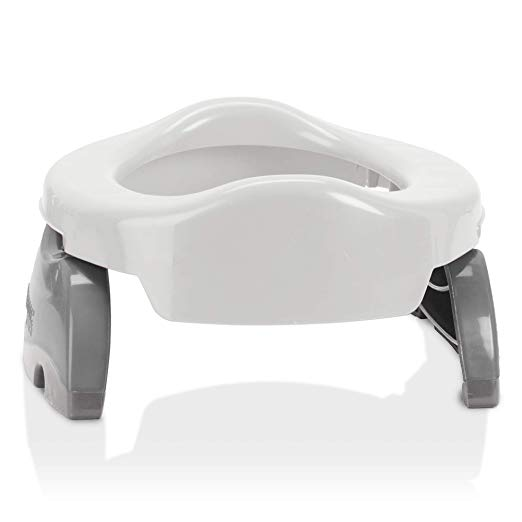 Kalencom Potette Plus 2-in-1 (Travel Potty) Trainer Seat White/Gray