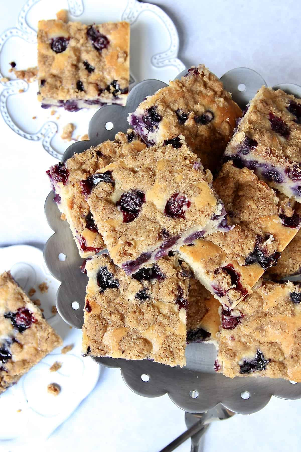Greek Yogurt Blueberry Coffee Cake