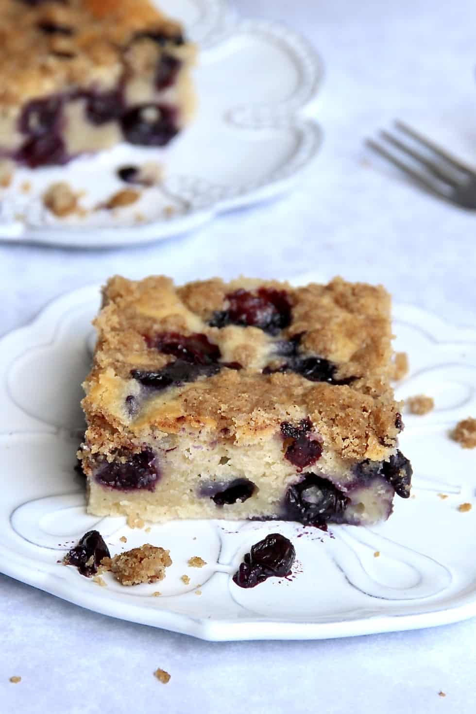 Greek Yogurt Blueberry Coffee Cake
